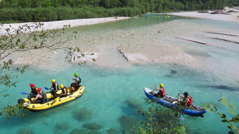 Raften slovenie - soca rivier