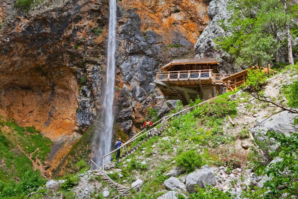 Rinka waterval in Slovenië