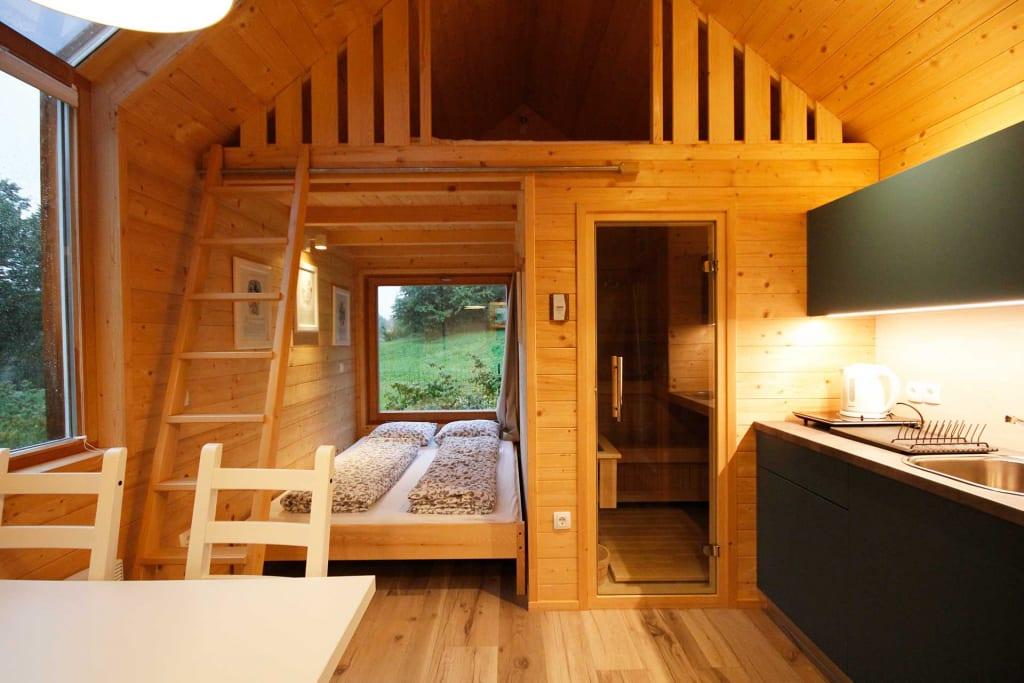 Vaantiehuisje met sauna in Slovenië